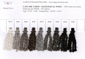 Carte d'échantillons ECO WOOL