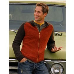 MEN'S ZIP CARDIGAN Blue Sky Alpacas