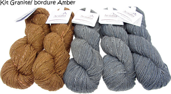Quaking Aspen Shawl granite-amber